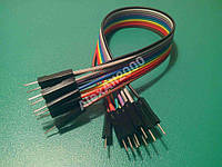 10шт. Dupont Дюпон кабель папа-папа 20см Arduino, фото 1