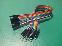 10шт. Dupont Дюпон кабель папа-мама 20см Arduino