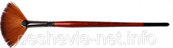 Синтетика веерная, Carrot 1097FN, № 4, короткая ручка, кисть KOLOS