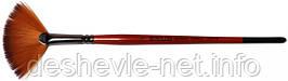 Синтетика веерная, Carrot 1097FN, № 6, короткая ручка, кисть KOLOS