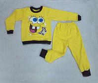Детская пижама на флисе теплая Губка Боб