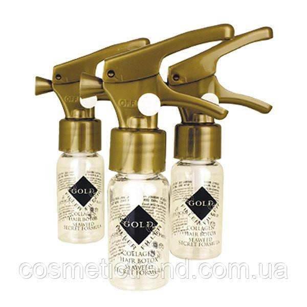 Золотой ботокс для волос Kleral System Gold Filler Collagen Hair Botox (Botul)10ml (поштучно!)
