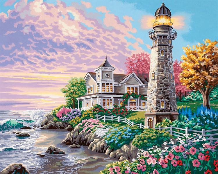 Картина по номерам «Идейка» (КН192) Величественный маяк, 50x40 см