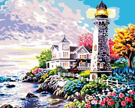 Картина по номерам «Идейка» (КН192) Величественный маяк, 50x40 см, фото 2