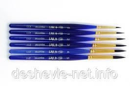 Белка круглая, 211, № 3, короткая ручка кисть 4'Art
