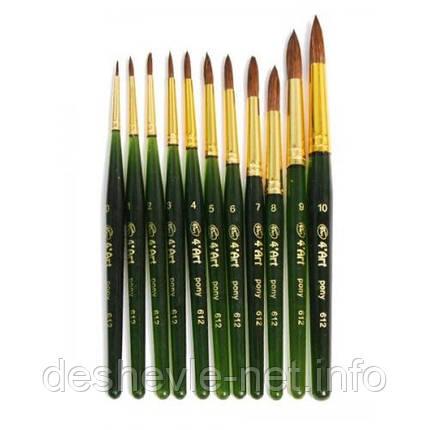 Поні кругла, 612, № 1, коротка ручка, кисть 4'Art, фото 2