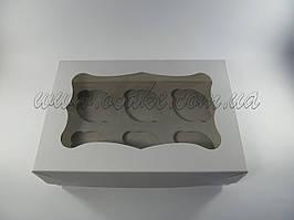 Коробка для маффинов на 6 шт, с окном