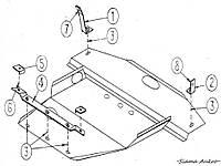 Защита двигателя Mitsubishi Galant VI 1987-1992