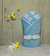 "Конверт-одеяло на выписку Piccolino ""Blue"""