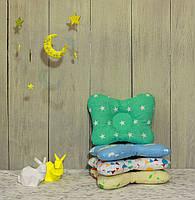 """Подушка для новорожденных """"Мятные звезды"""""""