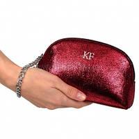 Женский кожаный клатч Katerina Fox темно-красного цвета из натуральной кожи (KF-698)