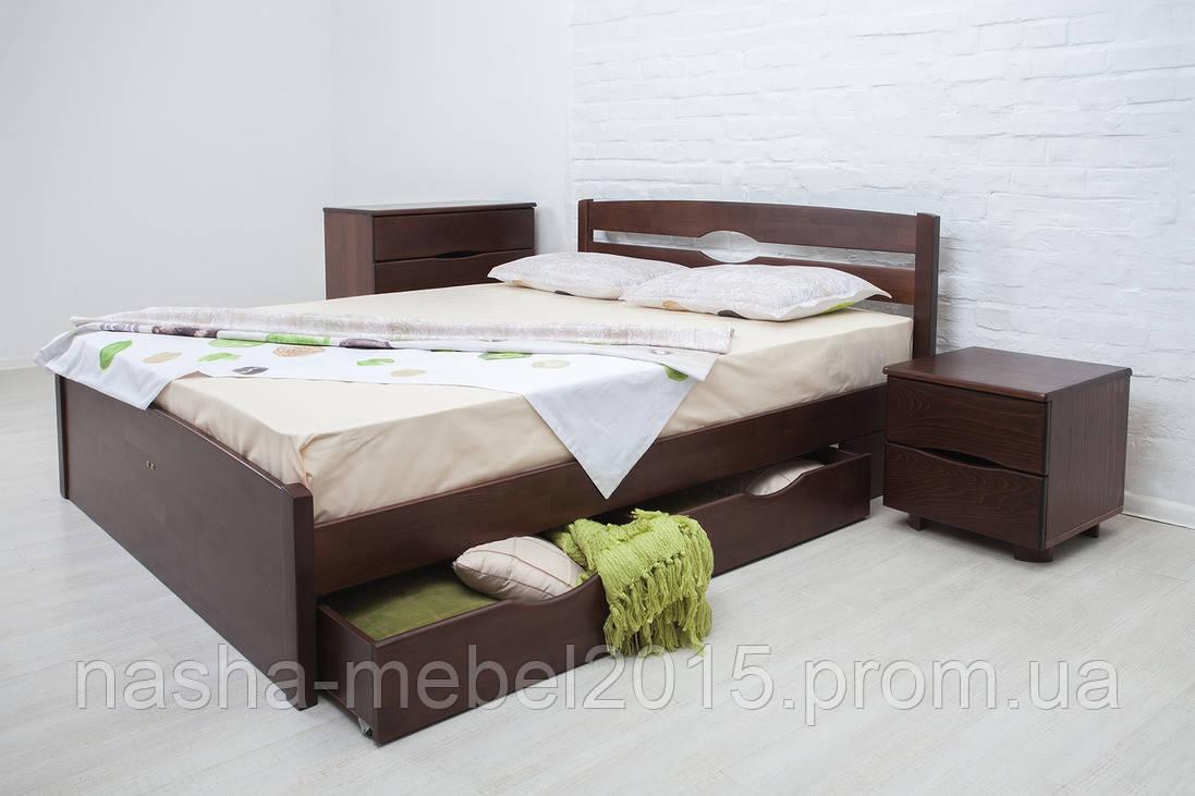 Кровать деревянная Ликерия Люкс с 4 ящиками1,4м
