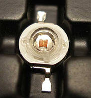 3Вт светодиод желтый, 45mil, 590нм, 50-60лм