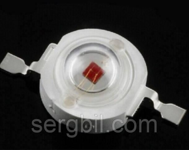 3Вт світлодіод емітер червоний фіто 660нм 600мА 2,4 В