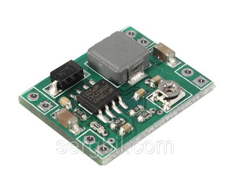DC-DC на MP1584EN, mini, CV step-down импульсный понижающий преобразователь / стабилизатор напряжения 4,5-28V-->0,8-20V, 3А, 96%, 1MГц