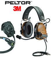 Активные наушники 3M / Peltor ComTac III Single Comm + кнопка PTT