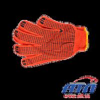 Перчатка оранжевая с синей точкой DOLONI (570)