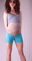 Шорты для беременных, бирюза и беж 48 лето