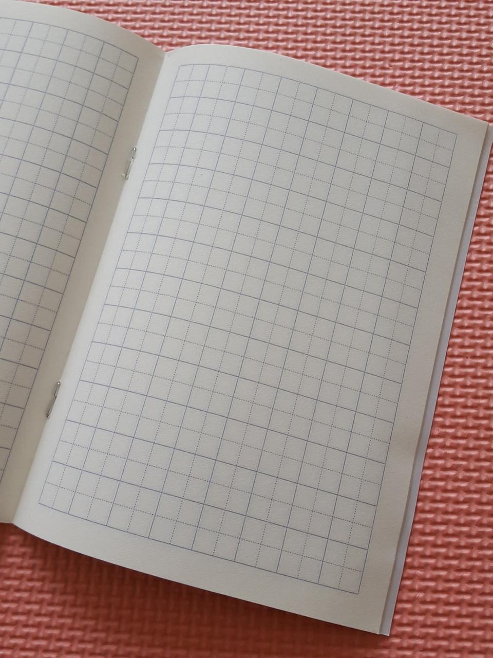 Зошит для написання ієрогліфів. Клітка 13 мм з межею. 2688 клітин