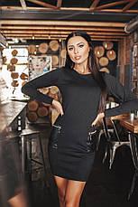 Платье с карманами из экокожи, фото 2