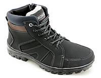 Roksol  Б-5, ботинок нубуковый мужской, шнурок-змейка