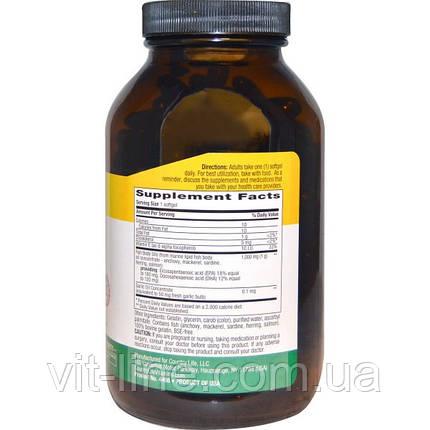Омега -3 коCountry Life, Омега-3, 1000 мг, 200 мягких капсул, фото 2