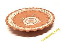 Тарелка глиняная, ручная работа