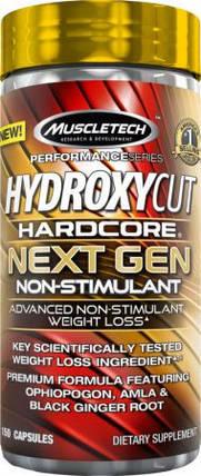 Жіросжігателя без стимуляторів MuscleTech Hydroxycut Hardcore Next Gen Non-Stimulant 150 капс., фото 2