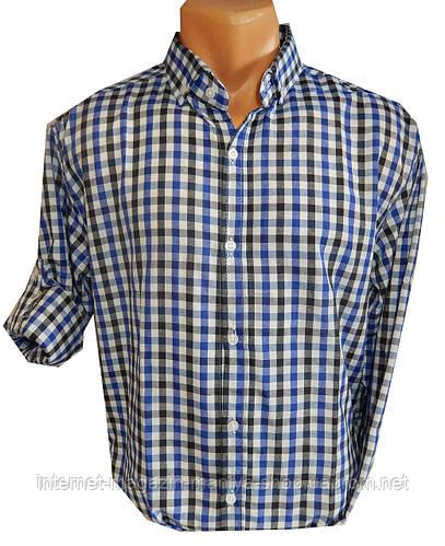 Рубашка мужская трансформер средняя клетка