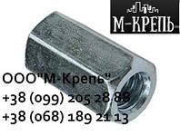 Гайка М8 соединительная удлиненная DIN 6334 нержавейка