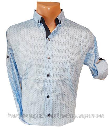 Рубашка мужская трансформер мелкий узор