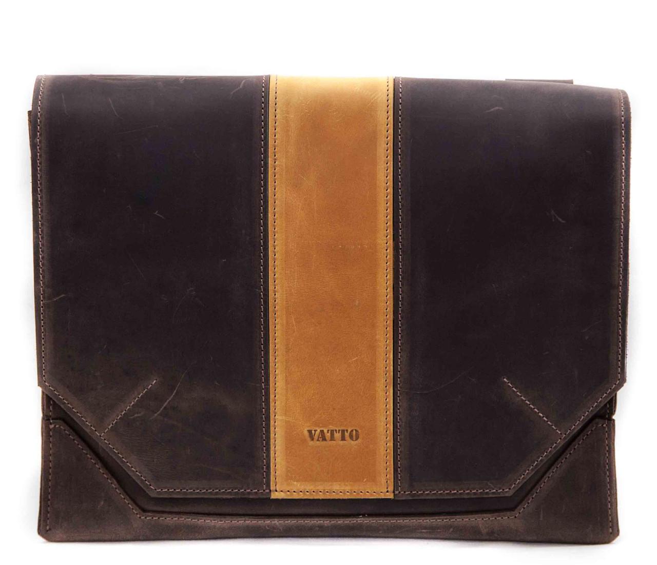 Кожаная мужская сумка Mk21.1 коричневая