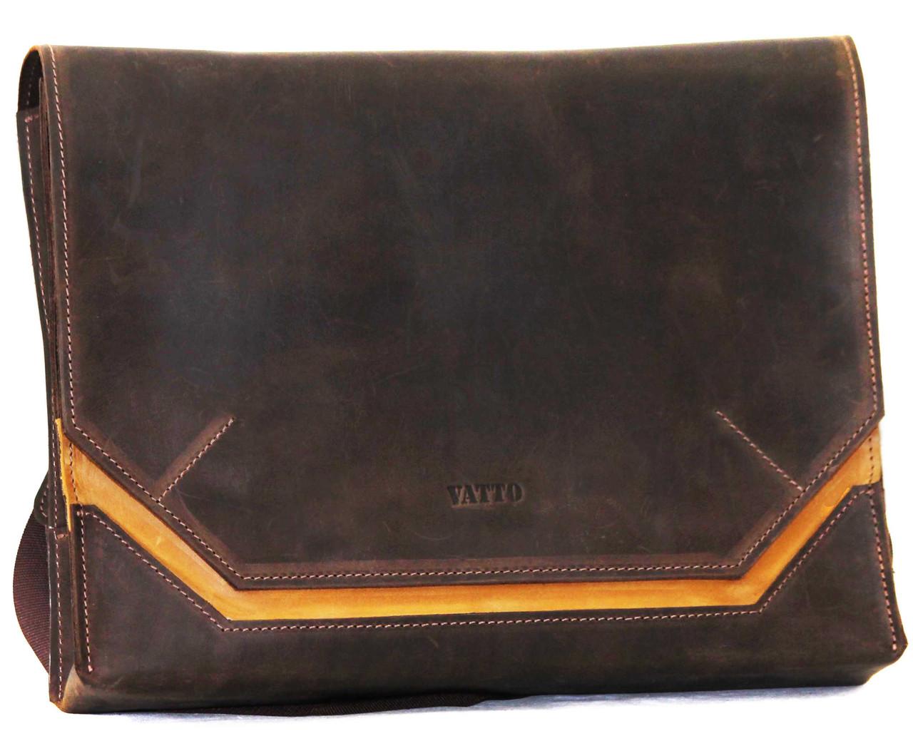 Кожаная мужская сумка Mk21 коричневая