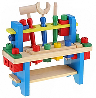 Инструменты детские из дерева. Игрушка верстак деревянный с инструментами
