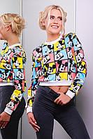 Женская демисезонная прикольная кофта с Мики маусами / Mickey Mouse кофта Свитшот №1 кор. (весна) д/р