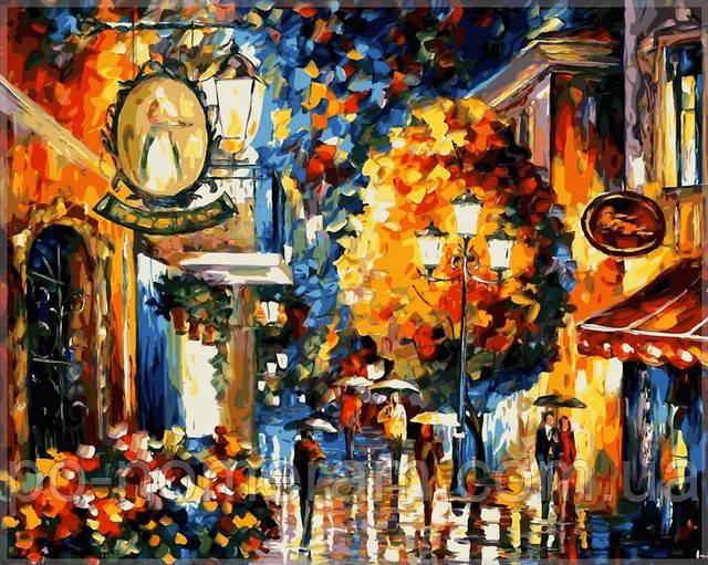 Картина по номерам Кафе в старом городе, Афремов