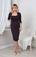 Платье Жаклин 0198_6 Тёмно-коричневое