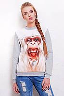Белая обезьяна кофта Свитшот 2 д/р, фото 1