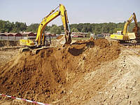 Вырытую землю превратили в строительный материал