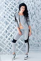 Серый трикотажный костюм ZL1013