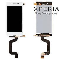 Дисплейный модуль (дисплей + сенсор) для Sony Xperia E3 D2202 / D2203 / D2206, белый, оригинал