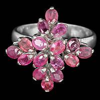 Рубин, серебро 925, 129КР кольцо
