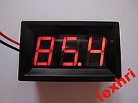 """Вольтметр 0.56"""" постоянного тока Питание и измерение 4.50 --- 85.0V красный"""