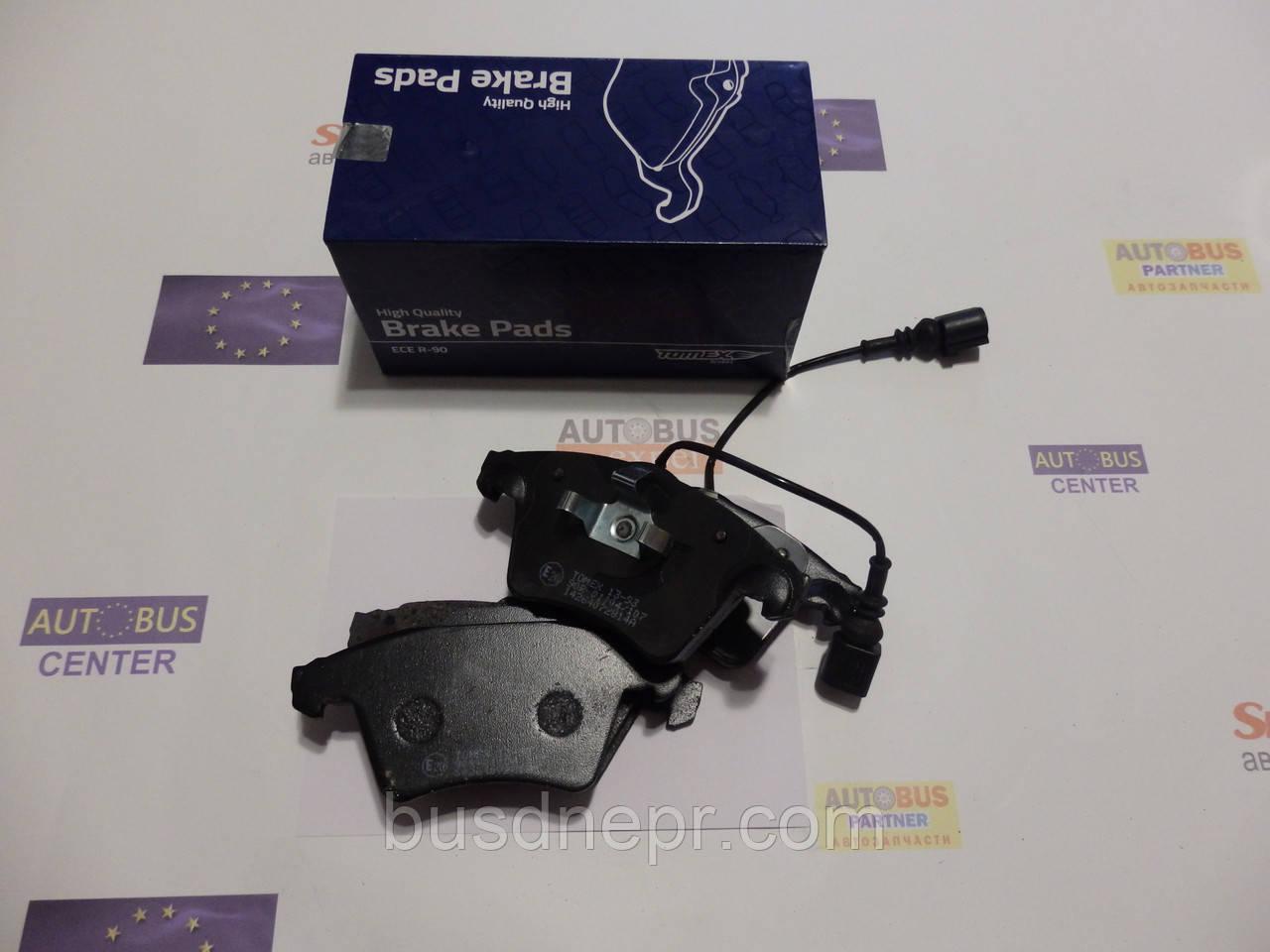 Тормозные колодки, передние TOMEX 1393 VW T-5 03- 16