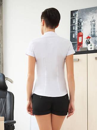 dedec59a8a8 Классическая женская белая рубашка с коротким рукавом блуза Марта к ...