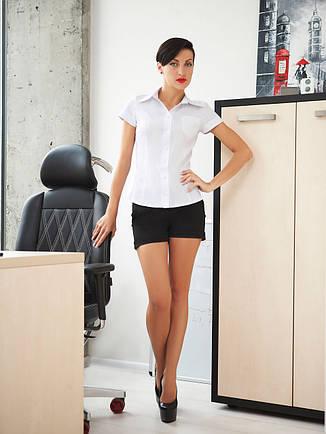 c8f6b609a5d9 Классическая женская белая рубашка с коротким рукавом блуза Марта к/р