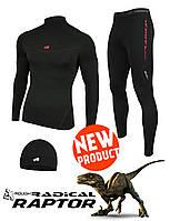 Мужское термобелье Radical Raptor, комплект термобелья с шапкой в подарок