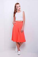 Брюки-юбка длиной до колена персикового цвета Магика