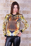 Леопард 3D кофта Свитшот №3 (весна) д/р