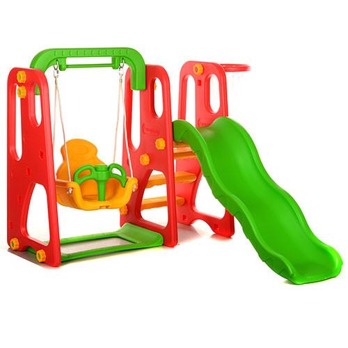 Детская пластиковая горка-качель M 3148-3
